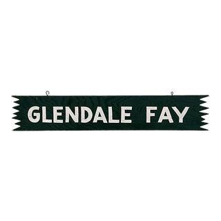 Vintage Wood Glendale Fay Stable Sign For Sale