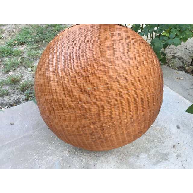 Boho Chic Round Winnowing Basket For Sale - Image 4 of 4