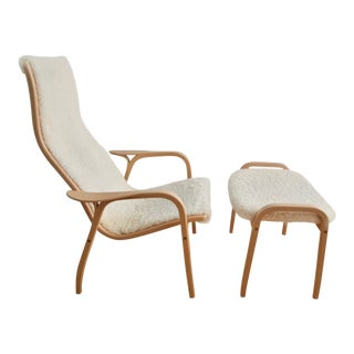 Lamino Chair With Ottoman by Yngve Ekström for Swedese For Sale