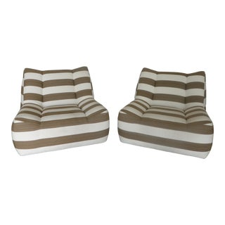 Sumptuous Vintage Italian Style Lounge Chairs - a Pair For Sale