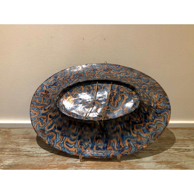 Ceramic Large Palissy Platter, France Circa 1880 For Sale - Image 7 of 9
