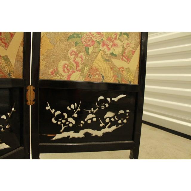 Japanese Byobu Folding Screen With Silk Panels - Image 8 of 8