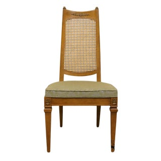 Drexel San Remo Collection Cane Back Dining Side Chair For Sale