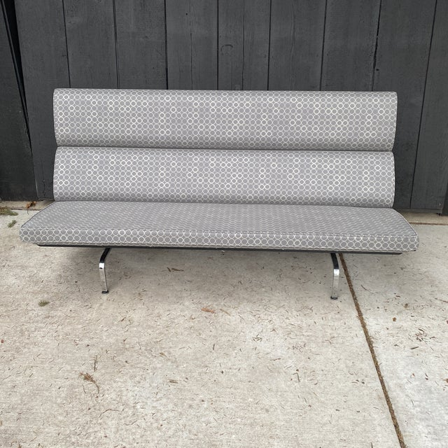 Beautiful Eames compact sofa in like new condition This still attached to the bottom. Upholstery and frame are all in...