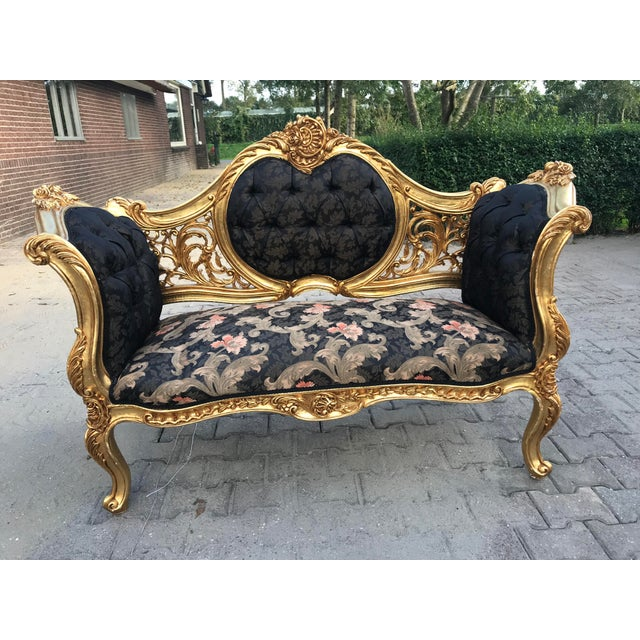 French Louis XVI Style Settee For Sale - Image 12 of 12