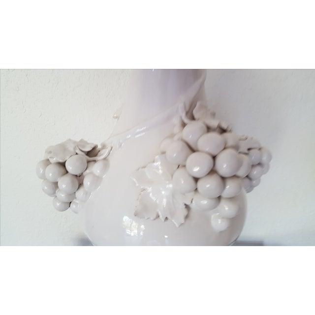 Hollywood Regency Porcelain Grape Cluster Lamp - Image 4 of 7