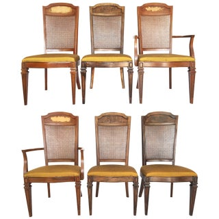 Century Furniture Hibriten Cane Back Dining Chairs - Set of 6 For Sale