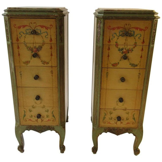 Pair of Tall 1920s Marble-Top Adams Style Side Tables For Sale - Image 13 of 13