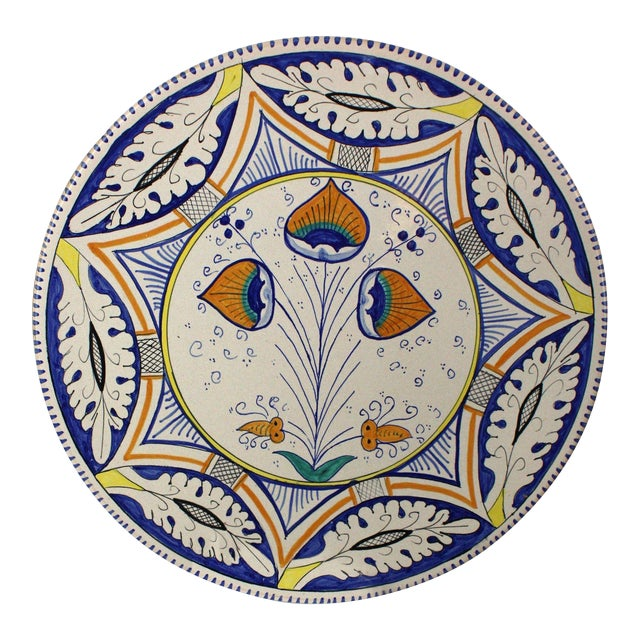 Mediterranean Pottery Charger For Sale