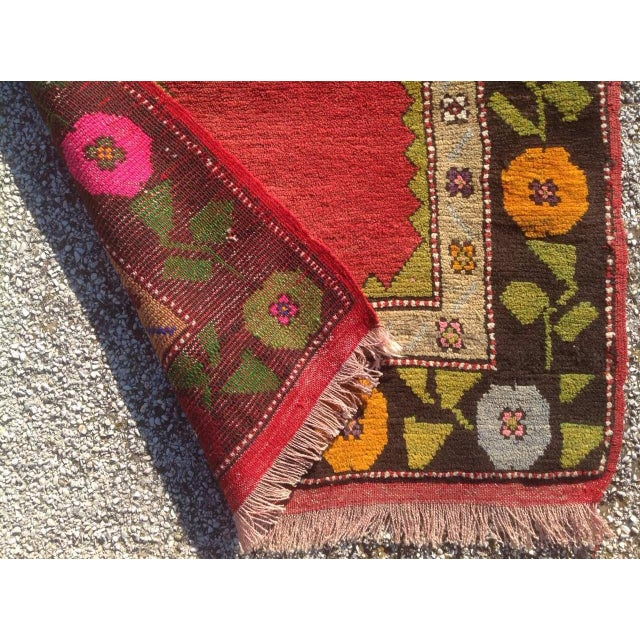 """Vintage Anatolian Rug - 2'5"""" x 3'3"""" For Sale In Raleigh - Image 6 of 6"""