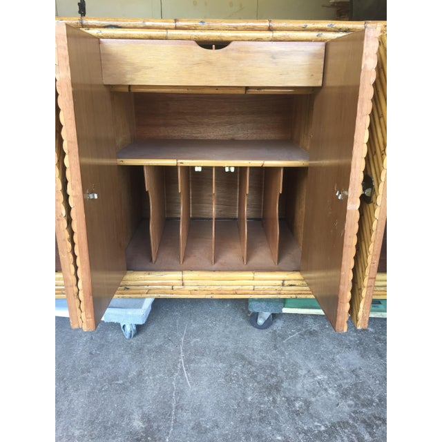 Bamboo Vintage Split Bamboo Display Cabinet For Sale - Image 7 of 11