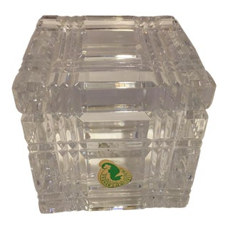 1990s Waterford Square Crystal Desk Box For Sale