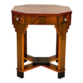French Art Deco Octagonal Occasional or Accent Table For Sale