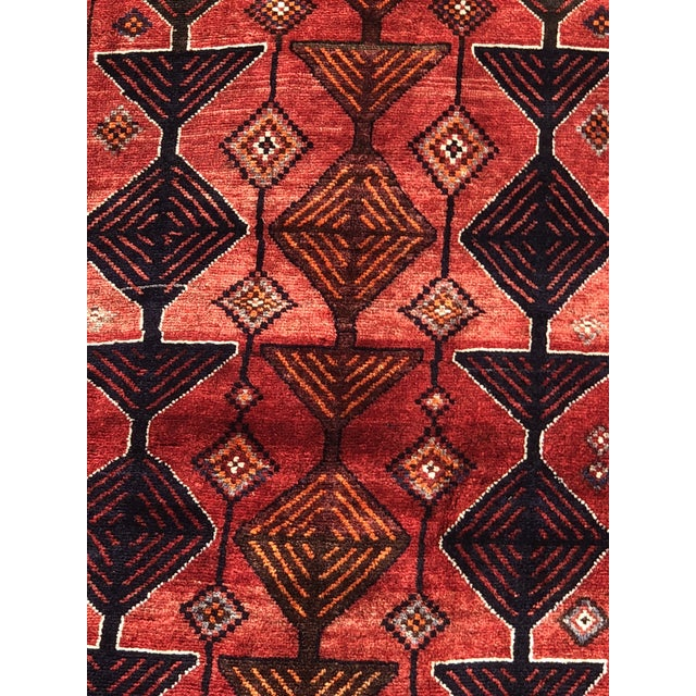 "Islamic Vintage Persian Qashghi Rug - 4'2""x9' For Sale - Image 3 of 13"