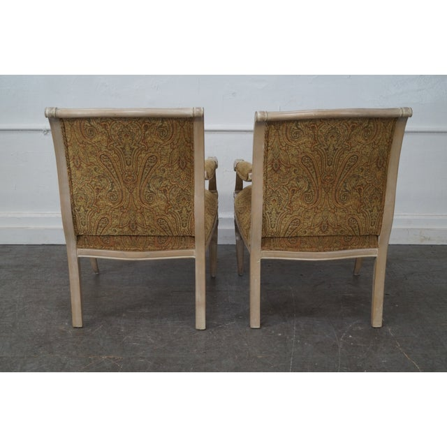 Regency Style Paisley Armchairs - A Pair - Image 4 of 10