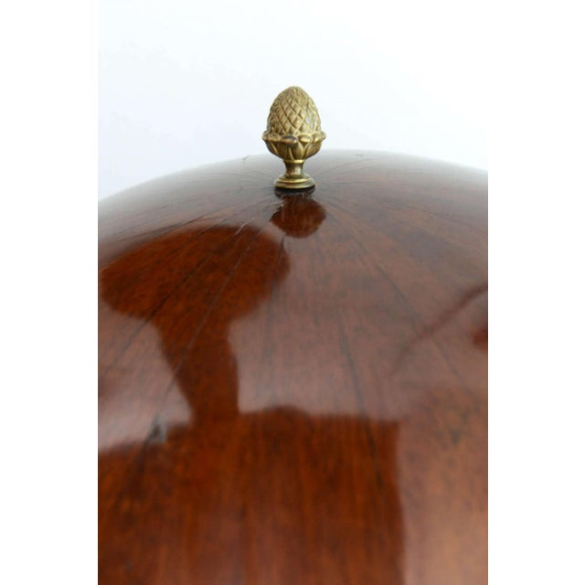 Fine Biedermeier Mahogany, Ebonized and Parcel-Gilt Globe Form Work Desk For Sale - Image 9 of 9