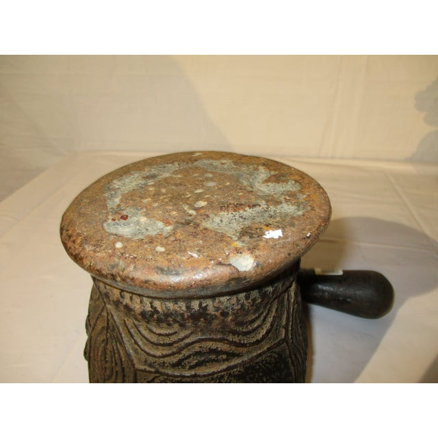 Cast Iron Mortar and Pestle Eastern European Antique For Sale In New York - Image 6 of 7
