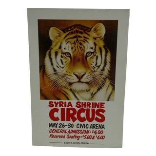 Vintage Syria Shrine Circus Civic Arena Pittsburgh PA Poster For Sale