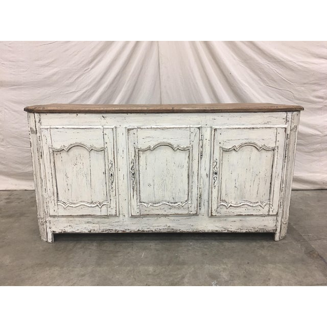 18th C French Provencal Three Door Painted Enfilade Sideboard For Sale - Image 13 of 13