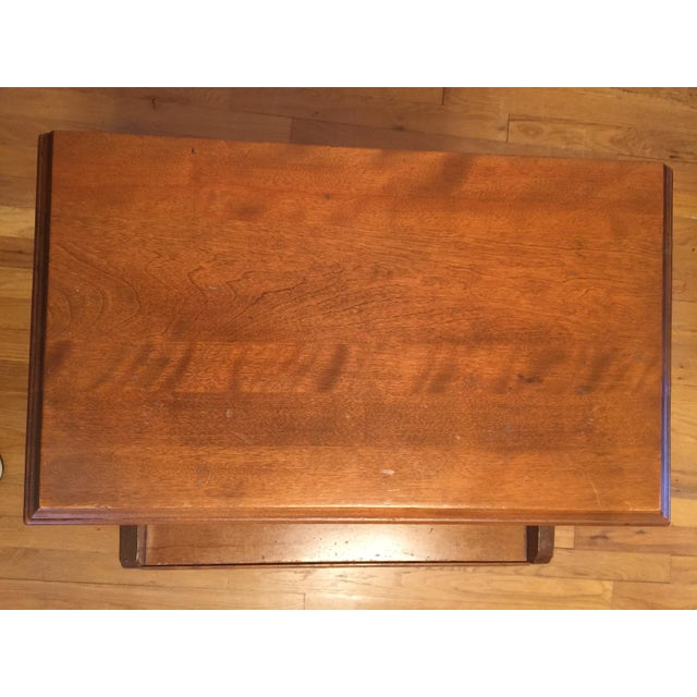 Wood 1950s Mid Century Modern Ethan Allen Baumritter Maple Wood Night Table For Sale - Image 7 of 11