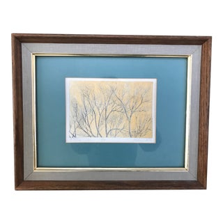 """Richard Volpe Intaglio Etching """"Filigree Yellow"""" Limited Edition 7/12 For Sale"""
