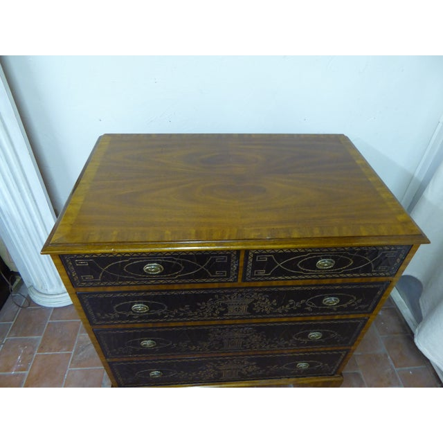 Maitland - Smith 20th Century Maitland Smith Leather Clad Chest Drawers For Sale - Image 4 of 9