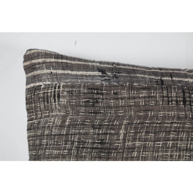 2010s Indian Patchwork Grey Pillow For Sale - Image 5 of 6