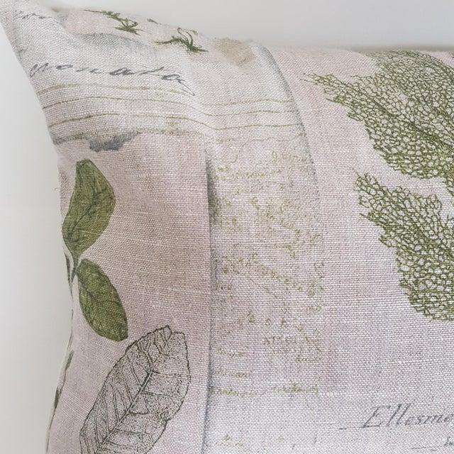 Green Botanical Bolster Pillow For Sale - Image 9 of 11