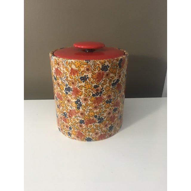 Mid-Century Modern Flowered Ice Bucket For Sale In Charleston - Image 6 of 6