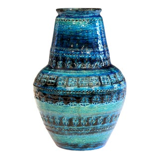 Bitossi Rimini Blue Londi Italian Pottery Raymor Illums Vintage Ceramic Vase For Sale