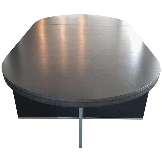 Bauhaus Ligne Roset Contemporary Oak Dining Table For Sale - Image 3 of 6