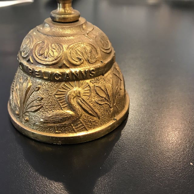 Vintage Brass Bell With Carved Animals - Image 3 of 8