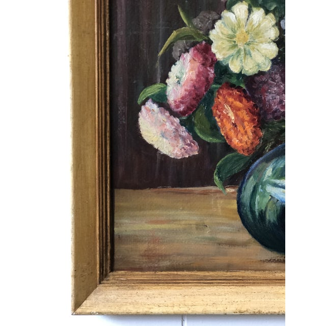 Bright and Cheerful 1940s Floral Still Life For Sale - Image 4 of 13