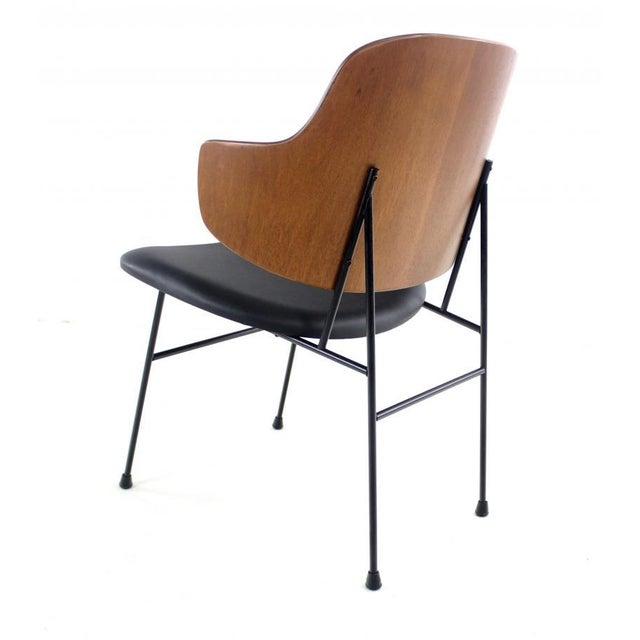 Classic Scandinvian Modern Penguin Armchair By Ib Kofod Larsen
