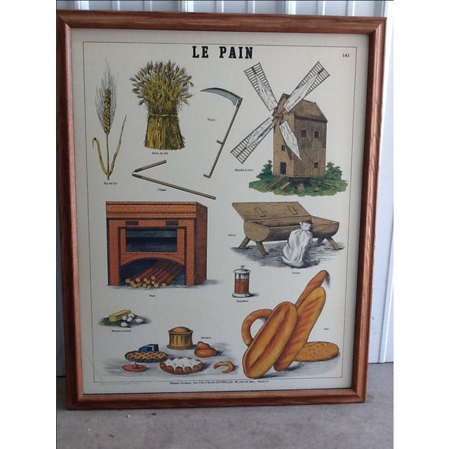 """French Country Deyrolle """"Le Pain"""" Poster For Sale - Image 3 of 3"""