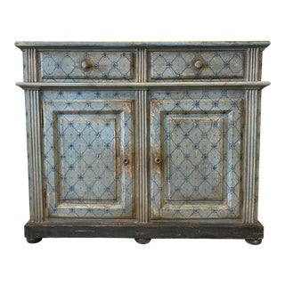 Italian Painted Two Door Painted Buffet Sideboard - 19th C For Sale