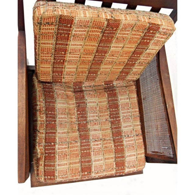 Mid-Century Modern Vintage Mid Century Modern Wood Wicker Armchair For Sale - Image 3 of 4