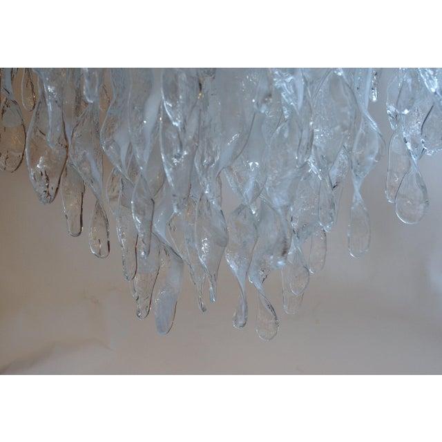 Glass Stalattiti Chandelier For Sale - Image 7 of 8