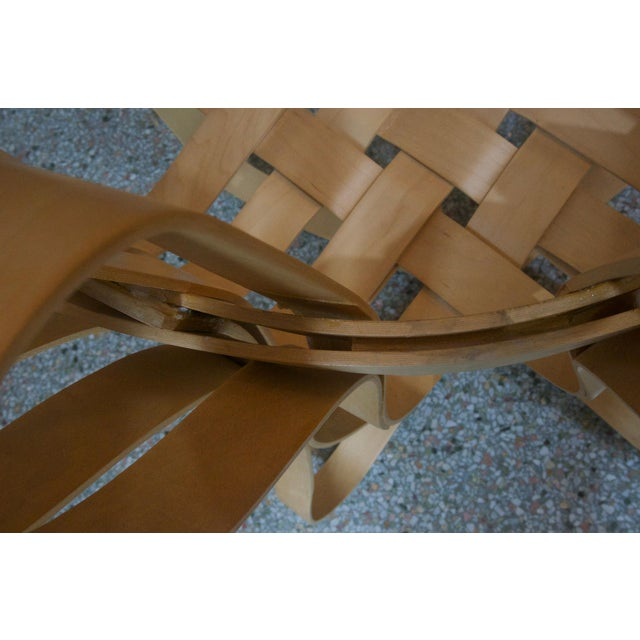 "Wood ""Cross Check"" Bentwood Armchairs by Frank Gehry for Knoll 1993 - a Pair For Sale - Image 7 of 13"