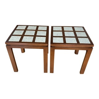Harvey Probber Terrazzo and Walnut Occasional Tables For Sale