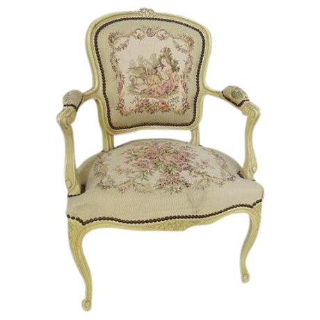1950's Louis XV Chair For Sale