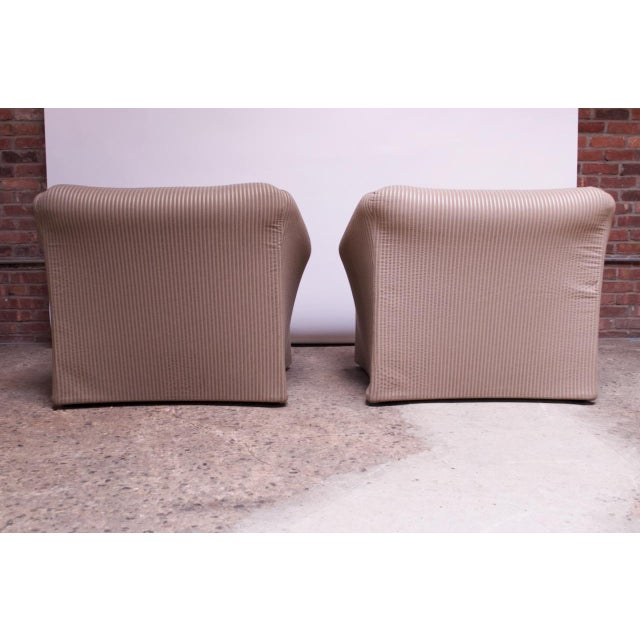 Pair 1970s Wide Tentazione Club Chairs by Mario Bellini for Cassina For Sale In New York - Image 6 of 13