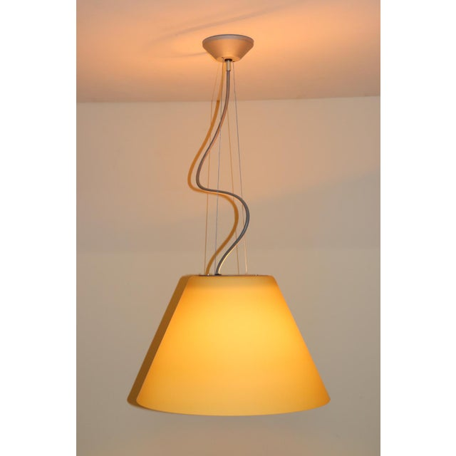 Itre Mid-Century Modern Pendant Lamp by Carlo Nason for Itre Murano Amber Glass For Sale - Image 4 of 12
