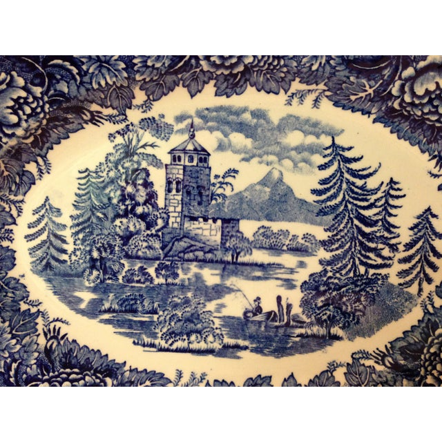 Arabia of Finland Landscape Blue Server Set - S/4 For Sale - Image 7 of 10