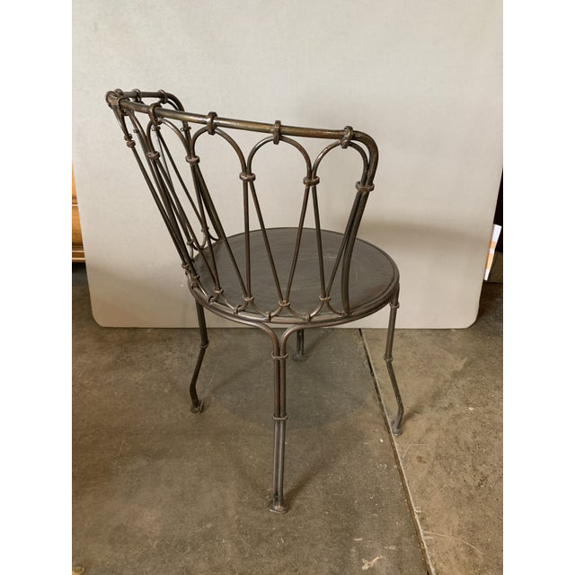 Art Deco Art Deco Metal Bistro Chair For Sale - Image 3 of 5