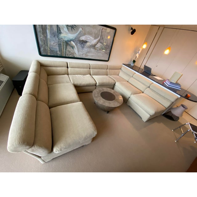 1970's Modular Sectional Sofa for Directional For Sale - Image 4 of 13