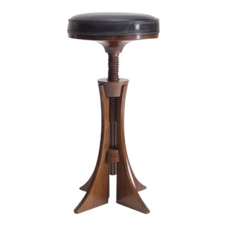 GRETE JALK Adjustable Stool c. 1960 For Sale