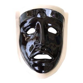 Vintage Mardi Gras Style Ceramic Face Mask For Sale