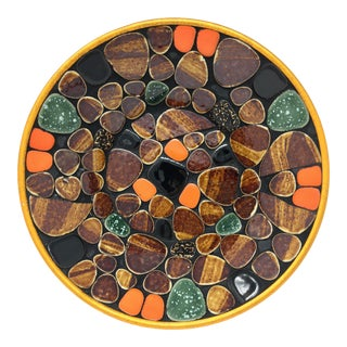 Mid Century Modern Multi-Colored Mosaic Tile Bowl For Sale
