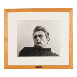 "James Dean -1954 Original 13.5'' H X 16"" Photograph by Roy Schatt"